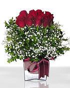 Kastamonu çiçek , çiçekçi , çiçekçilik  11 adet gül mika yada cam - anneler günü seçimi -