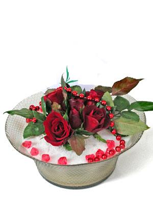 Kastamonu çiçek siparişi vermek  EN ÇOK Sevenlere 7 adet kirmizi gül mika yada cam tanzim