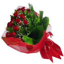 Kastamonu kaliteli taze ve ucuz çiçekler  12 adet kirmizi essiz gül buketi - SEVENE ÖZEL