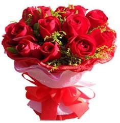 9 adet kirmizi güllerden kipkirmizi buket  Kastamonu çiçekçiler