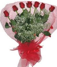 7 adet kipkirmizi gülden görsel buket  Kastamonu çiçek mağazası , çiçekçi adresleri