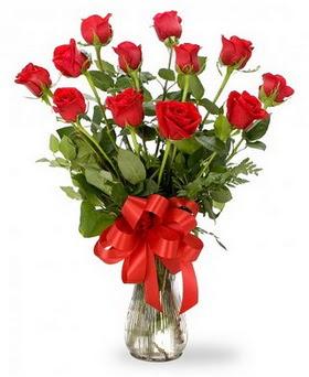 Kastamonu çiçek , çiçekçi , çiçekçilik  12 adet kırmızı güllerden vazo tanzimi