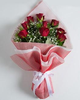9 adet kırmızı gülden buket  Kastamonu çiçek satışı