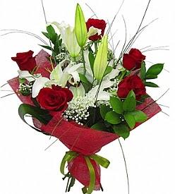 1 dal kazablanka 5 kırmızı gül buketi  Kastamonu kaliteli taze ve ucuz çiçekler