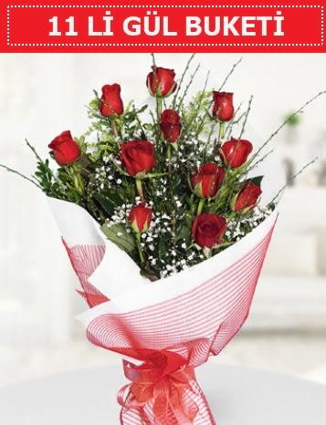 11 adet kırmızı gül buketi Aşk budur  Kastamonu çiçek gönderme sitemiz güvenlidir