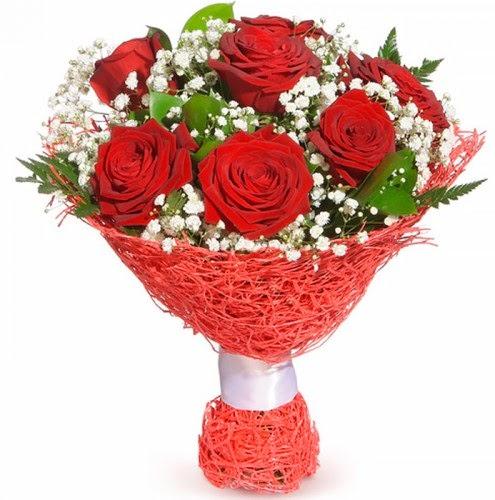 7 adet kırmızı gül buketi  Kastamonu çiçekçiler