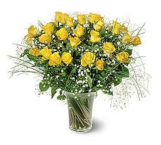 Kastamonu çiçek siparişi sitesi  15 adet sarigül mika yada cam vazoda