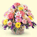 Kastamonu uluslararası çiçek gönderme  sepet içerisinde gül ve mevsim