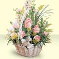 Kastamonu 14 şubat sevgililer günü çiçek  sepette pembe güller