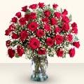Kastamonu çiçekçiler  33 adet kirmizi gül cam yada mika vazoda