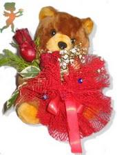 oyuncak ayi ve gül tanzim  Kastamonu çiçekçiler