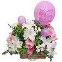 balon ve çiçeklerle tanzim  Kastamonu internetten çiçek satışı