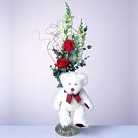 2 adet gül ve panda özel  Kastamonu çiçekçi mağazası