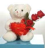 3 adetgül ve oyuncak   Kastamonu online çiçekçi , çiçek siparişi