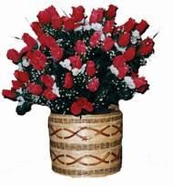 yapay kirmizi güller sepeti   Kastamonu kaliteli taze ve ucuz çiçekler