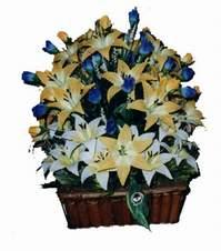 yapay karisik çiçek sepeti   Kastamonu çiçek gönderme