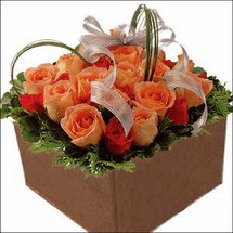 kare sandikta 11 gülllerden   Kastamonu çiçekçi mağazası