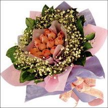 11  adet  gül ve   elyaflar   Kastamonu çiçekçi mağazası