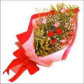 12 adet renkli  gül buketi   Kastamonu çiçekçi mağazası