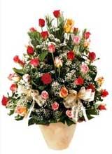 91 adet renkli gül aranjman   Kastamonu çiçek gönderme sitemiz güvenlidir