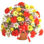 karisik renkli çiçek sepet   Kastamonu çiçek gönderme sitemiz güvenlidir