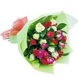 12 adet renkli gül buketi   Kastamonu çiçek gönderme sitemiz güvenlidir