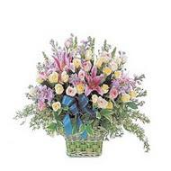 sepette kazablanka ve güller   Kastamonu çiçek gönderme