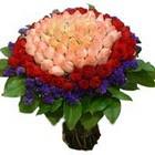 71 adet renkli gül buketi   Kastamonu ucuz çiçek gönder