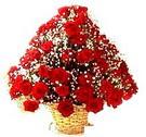 41 adet kirmizi gül sepette   Kastamonu çiçek , çiçekçi , çiçekçilik