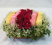 15 adet reprenkli gül sepeti   Kastamonu çiçek yolla