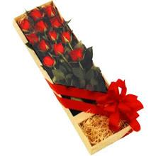 kutuda 12 adet kirmizi gül   Kastamonu çiçek yolla