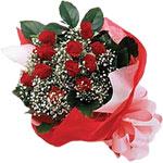 Kastamonu internetten çiçek satışı  KIRMIZI AMBALAJ BUKETINDE 12 ADET GÜL