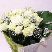 Kastamonu hediye çiçek yolla  11 adet sade beyaz gül buketi