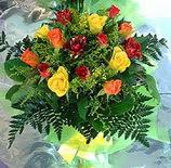 13 adet karisik gül buketi demeti   Kastamonu uluslararası çiçek gönderme