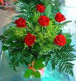 6 adet kirmizi gül buketi   Kastamonu online çiçek gönderme sipariş