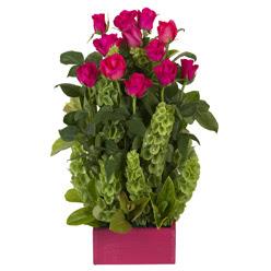12 adet kirmizi gül aranjmani  Kastamonu çiçek mağazası , çiçekçi adresleri