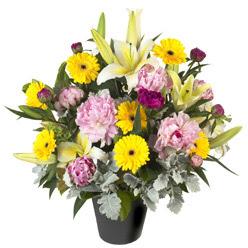 karisik mevsim çiçeklerinden vazo tanzimi  Kastamonu uluslararası çiçek gönderme