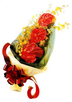 özel 5 adet antorium buketi   Kastamonu çiçek gönderme sitemiz güvenlidir