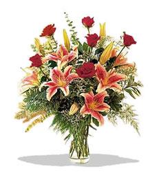 Kastamonu çiçek servisi , çiçekçi adresleri  Pembe Lilyum ve Gül