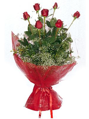 Kastamonu çiçek servisi , çiçekçi adresleri  7 adet gülden buket görsel sik sadelik