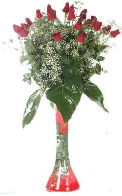 Kastamonu uluslararası çiçek gönderme  19 ADET GÜL VE FIL CAM AYAGI
