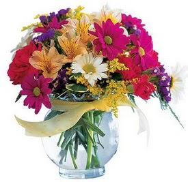Kastamonu internetten çiçek satışı  cam yada mika içerisinde karisik mevsim çiçekleri