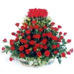 Kastamonu kaliteli taze ve ucuz çiçekler  41 adet kirmizi gülden sepet tanzimi