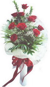Kastamonu hediye çiçek yolla  10 adet kirmizi gülden buket tanzimi özel anlara