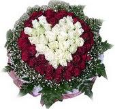 Kastamonu çiçek mağazası , çiçekçi adresleri  27 adet kirmizi ve beyaz gül sepet içinde
