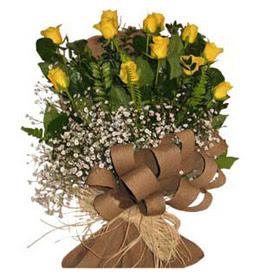 Kastamonu çiçek yolla  9 adet sari gül buketi