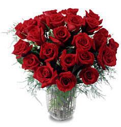 Kastamonu çiçek gönderme sitemiz güvenlidir  11 adet kirmizi gül cam yada mika vazo içerisinde