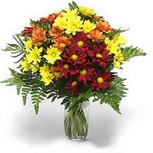 Kastamonu çiçek siparişi sitesi  Karisik çiçeklerden mevsim vazosu