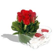 Mika kalp içerisinde 9 adet kirmizi gül  Kastamonu çiçek servisi , çiçekçi adresleri