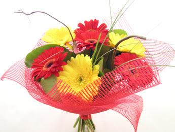 9 adet gerbera çiçeklerinden buket  Kastamonu çiçek satışı